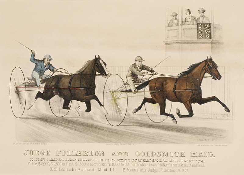 Judge Fullerton and Goldsmith Maid Litho