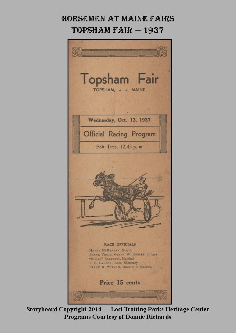 Topsham Fair, 1937