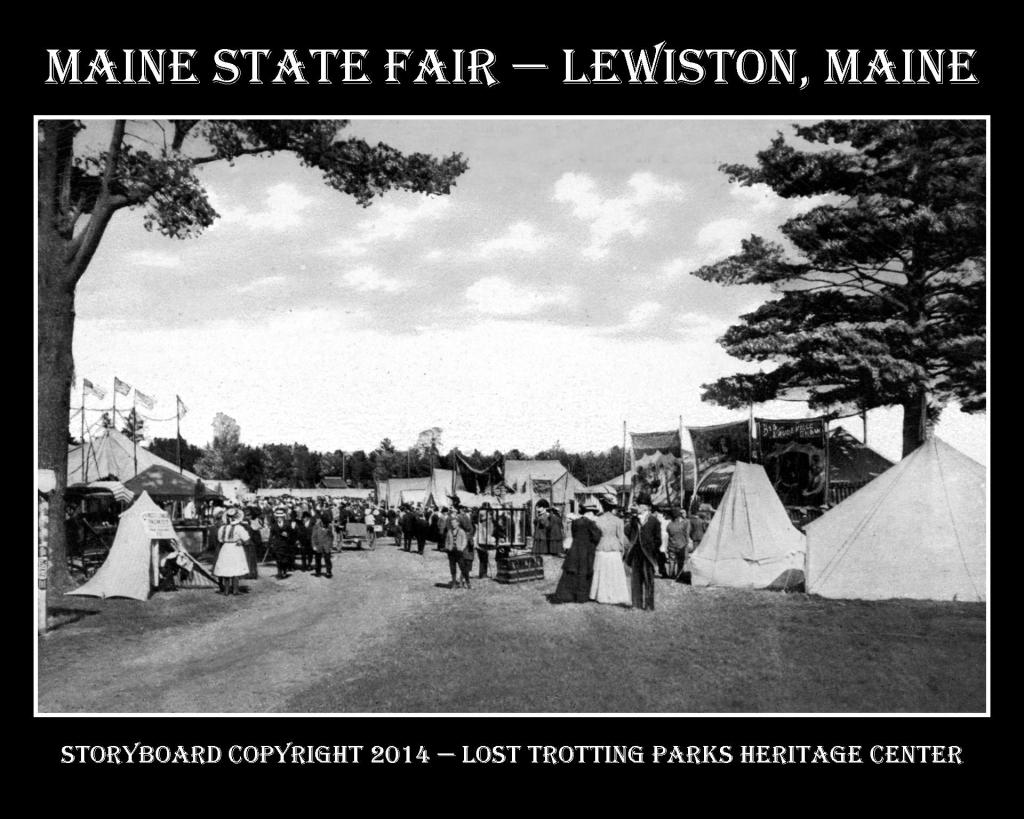 Maine State Fair B and W Postcard Storyboards web4