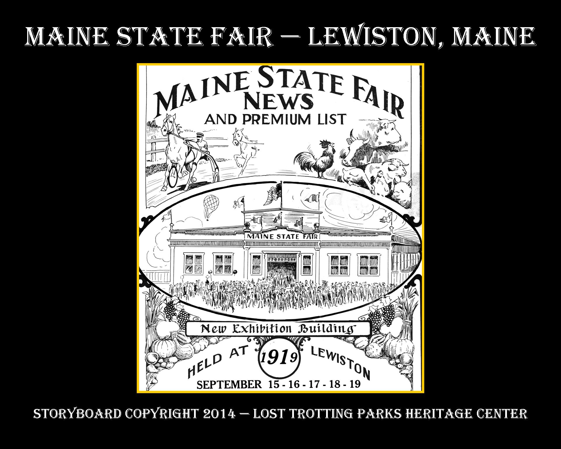 It's About the Experience — Take a Look at the Maine State Fair — Circa 1900