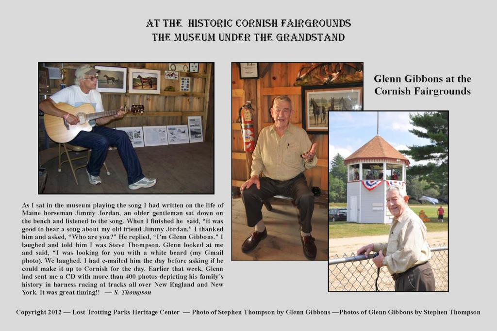 At the Historic Cornish Fairgrounds -- Meeting Glenn Gibbons