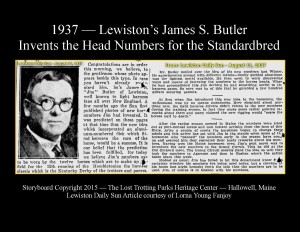 Congratulations are in order for Jim Butler -- Inventor of the Harness Racing Head Numbers