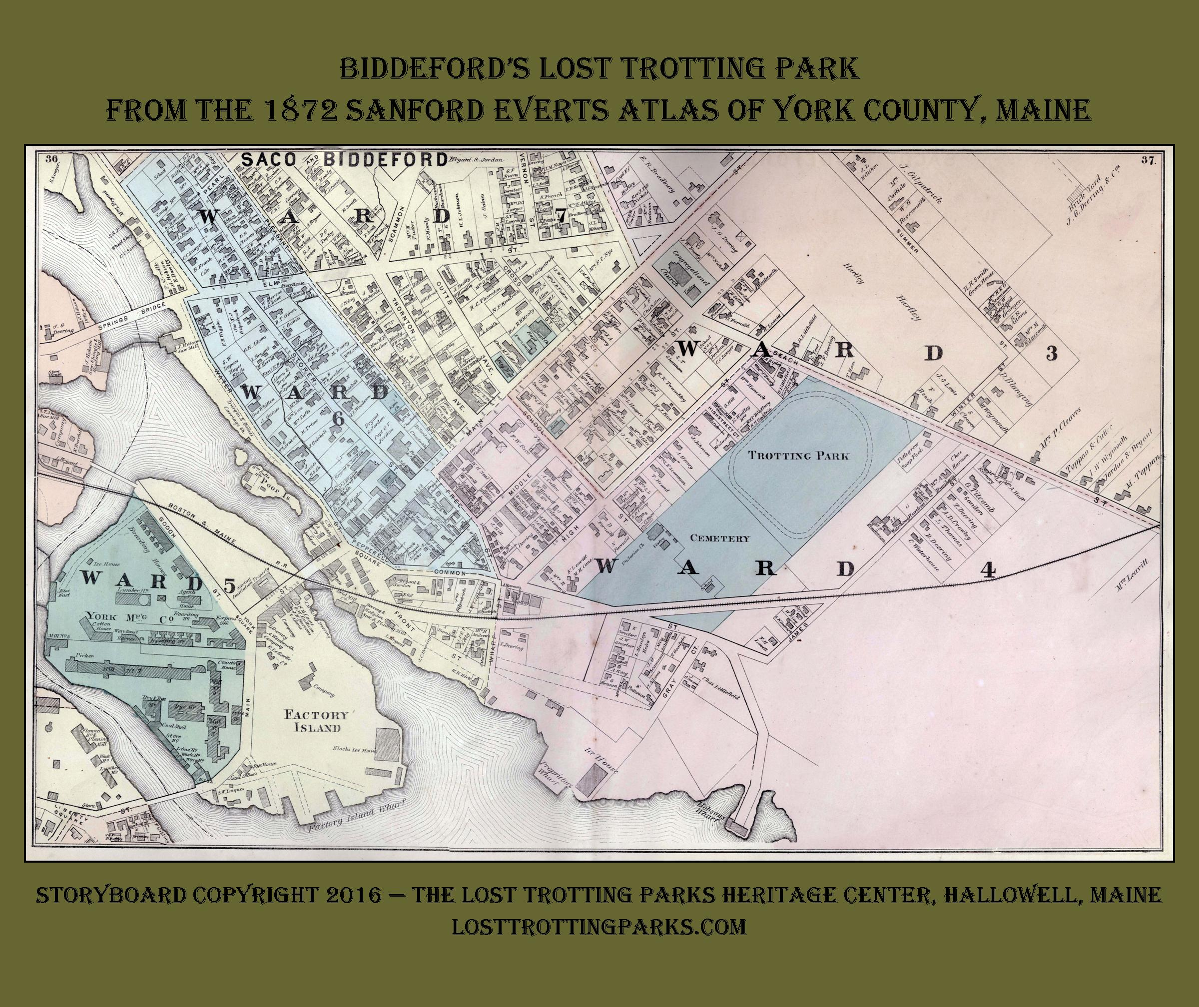 Pepperell Park in Saco In 1872 in use as a Trotting Park The