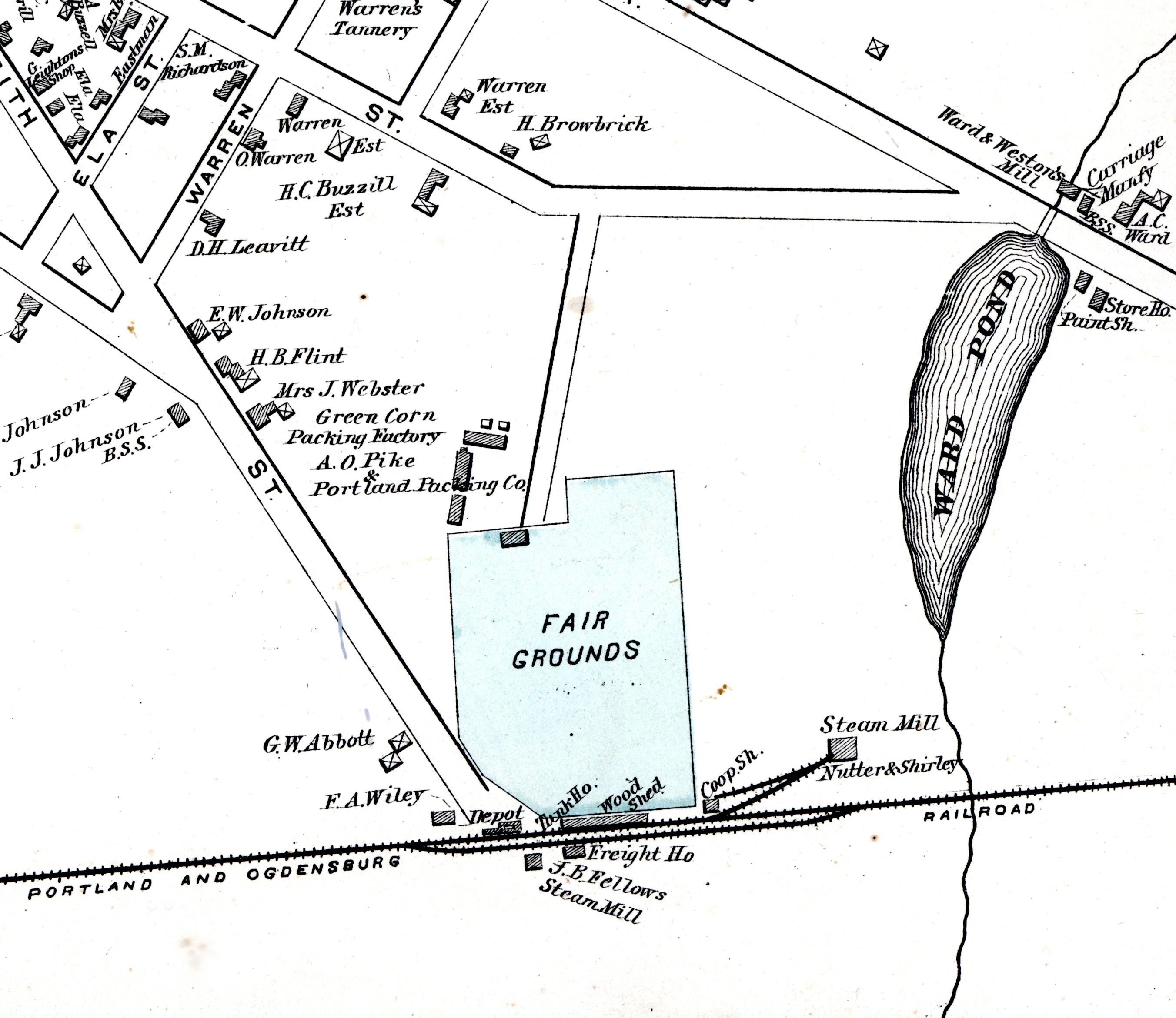 The Original Fairgrounds in the Village of Fryeburg, Maine