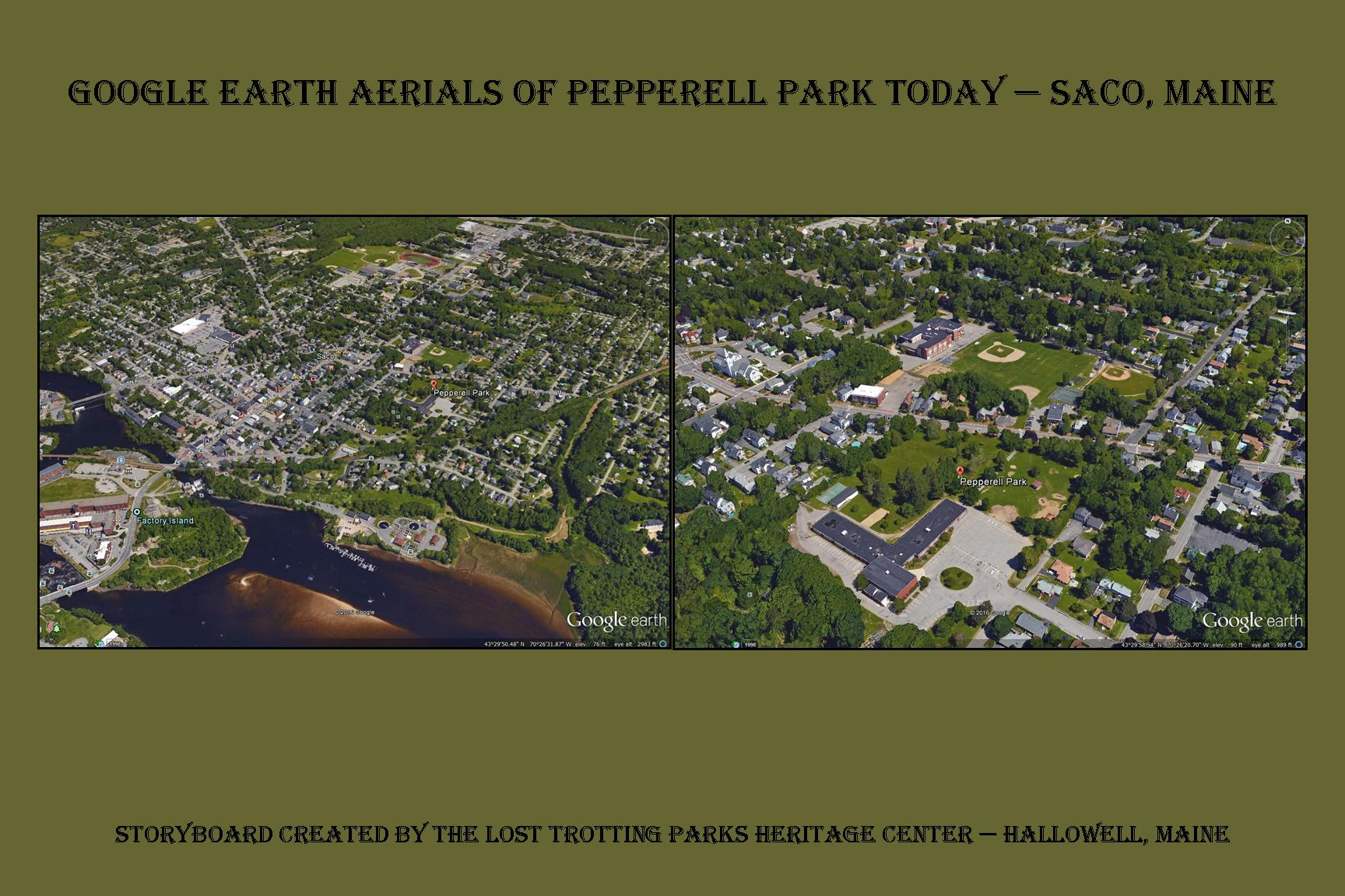 Pepperell Park in Saco — In 1872 in use as a Trotting Park