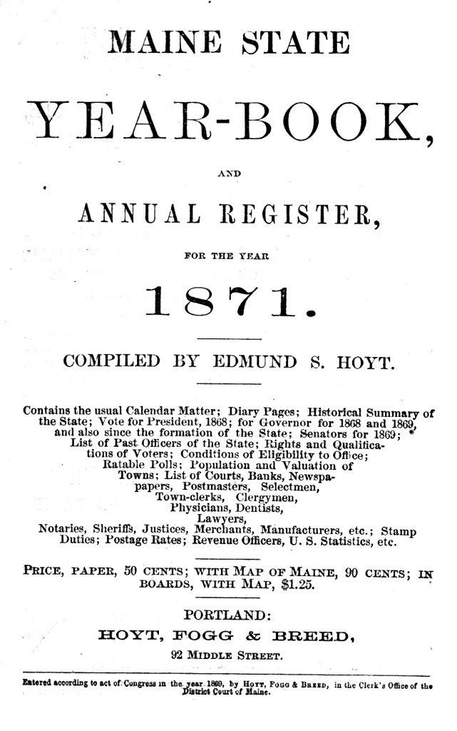 ME Reg 1871