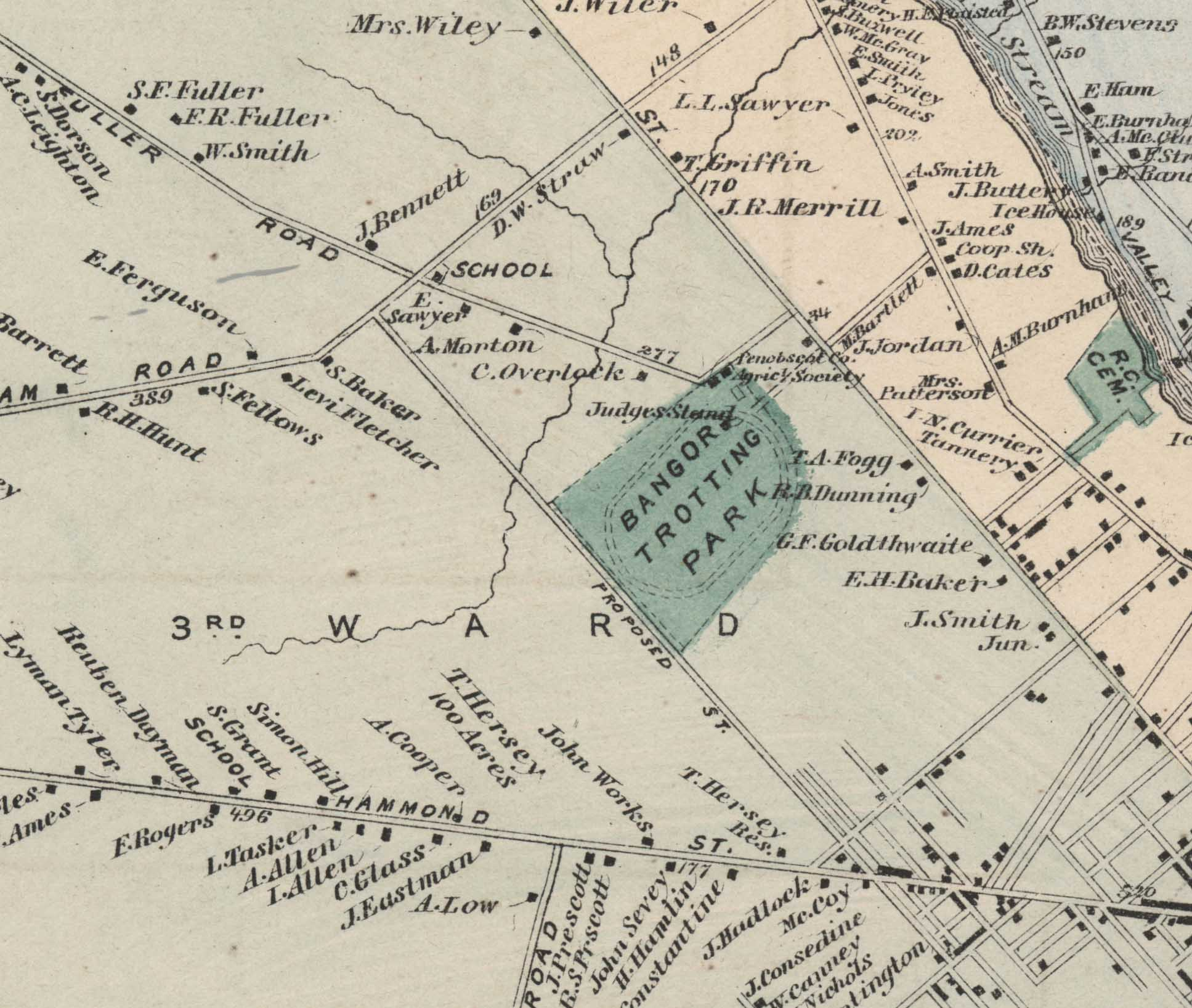 Bangor's Lost Trotting Park Built in 1851