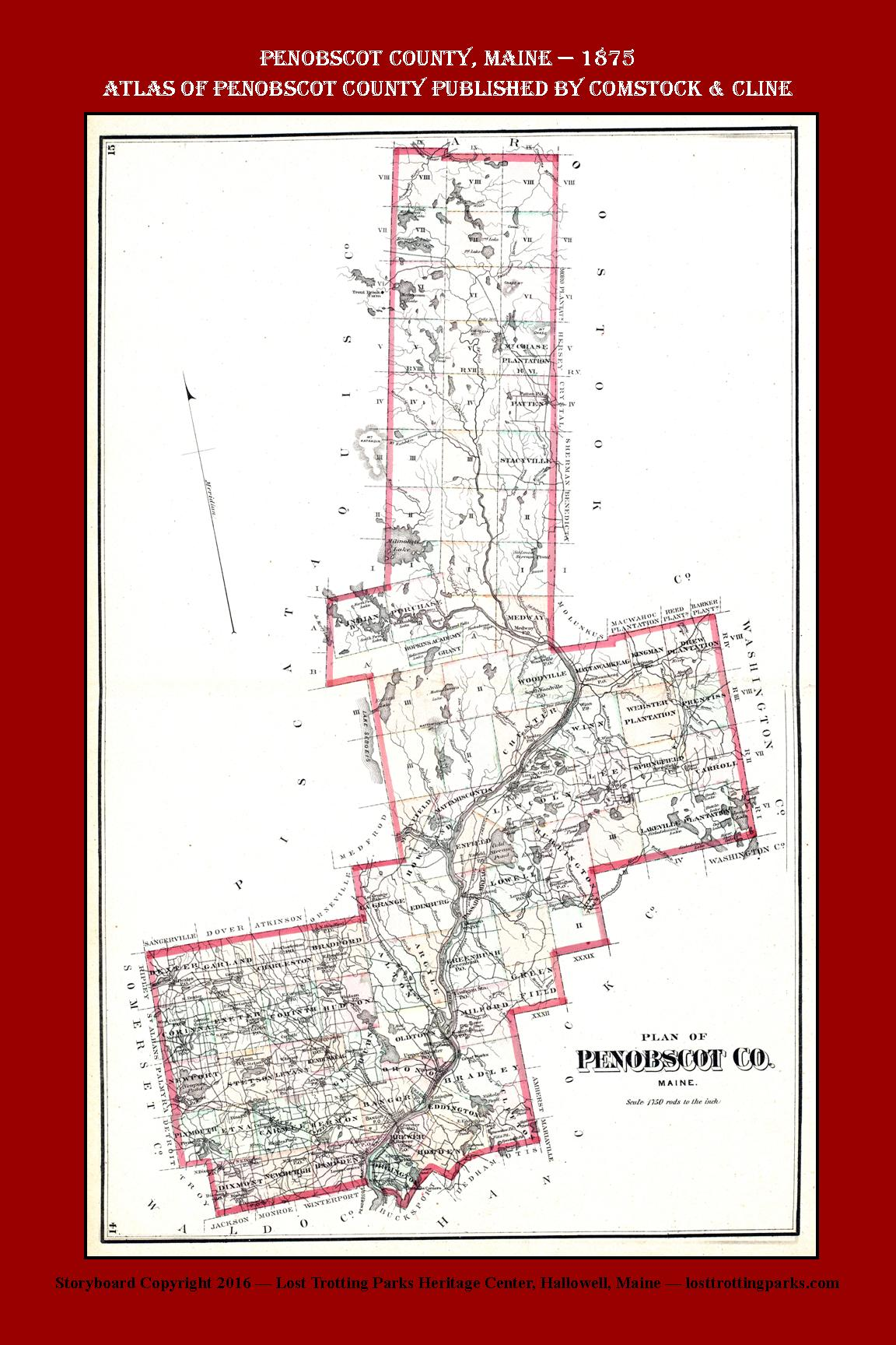 Penobscot county 1875 the lost trotting parks heritage center of these two towns and surrounding communities if you are a user of google earth or google maps you can look at aerial views of these commnities today sciox Gallery
