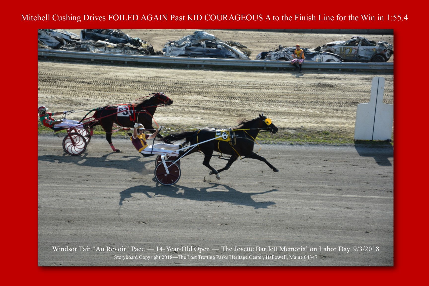 Mitchell Cushing Drives Foiled Again Past Kid Courageous A
